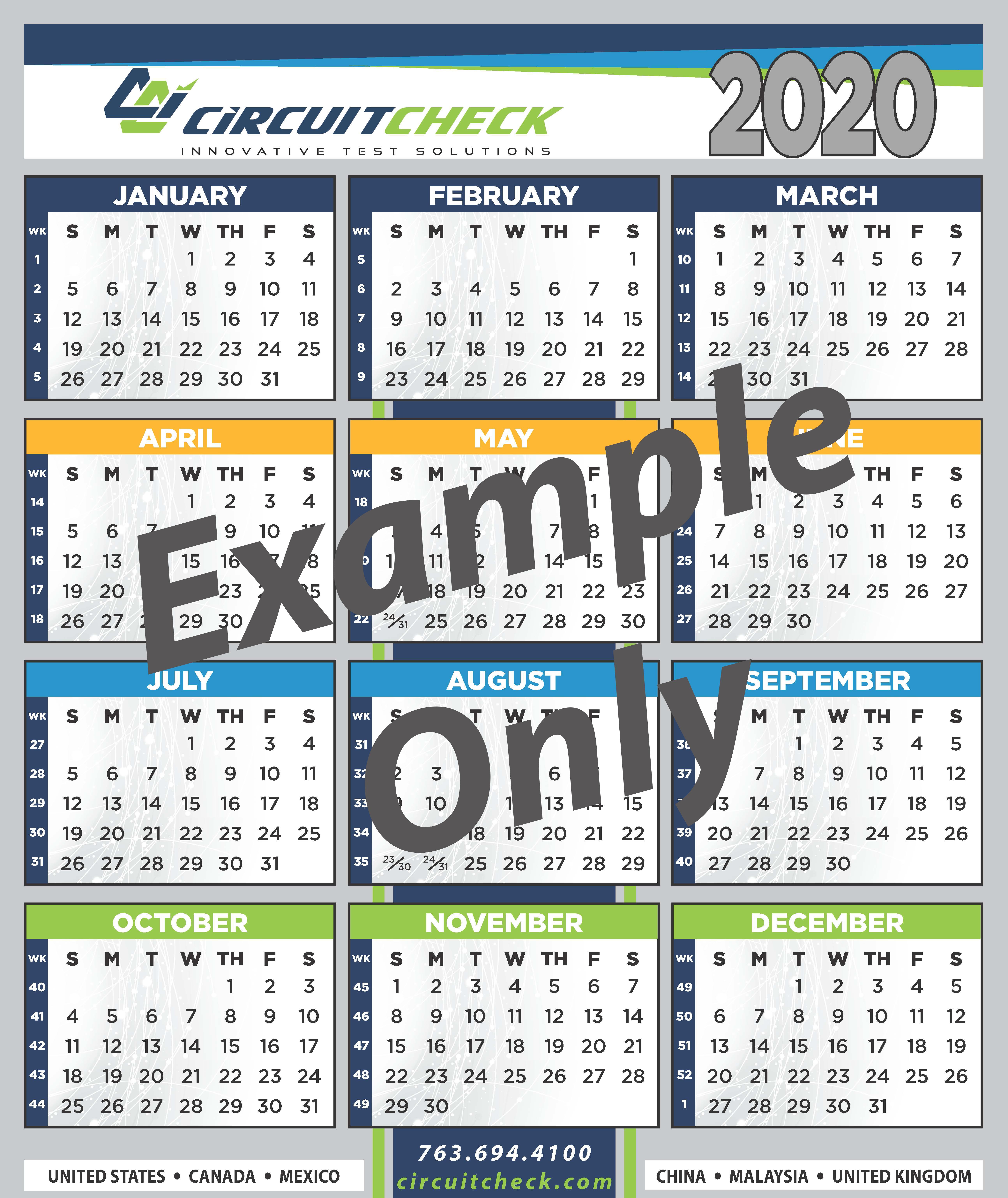 Circuit Check 2021 Calendar Sign Up