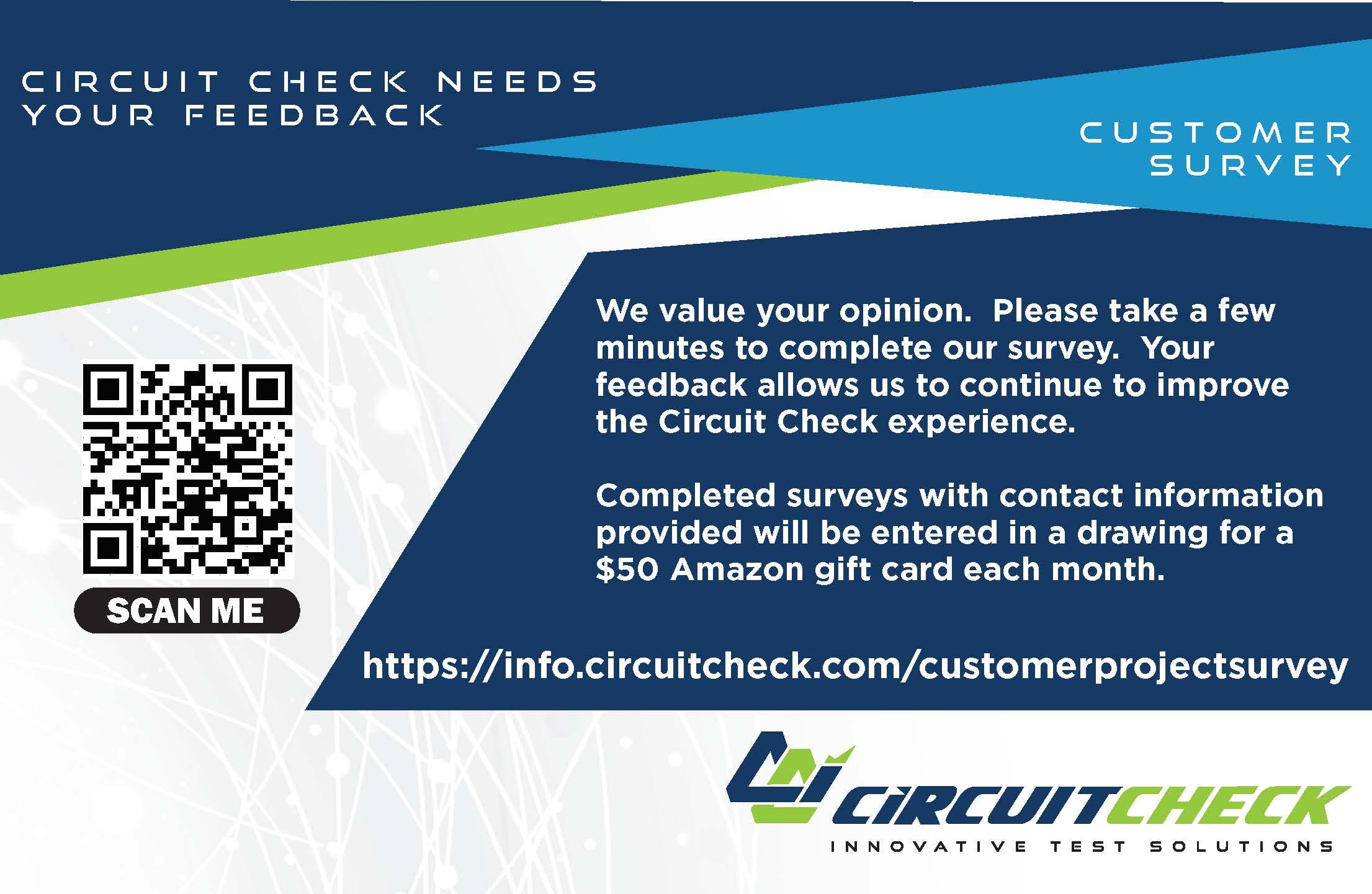 Circuit Check Needs Your Feedback